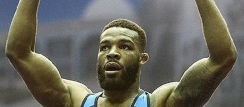 Former Husker Jordan Burroughs wasn't happy about a recent wrestling video [Image via Meghdad Madadi/Wikimedia Commons]