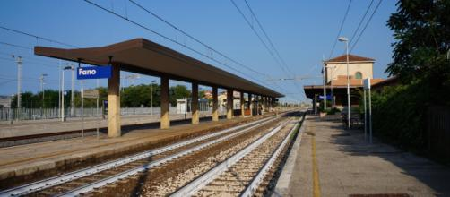 La stazione ferroviaria della città di Fano