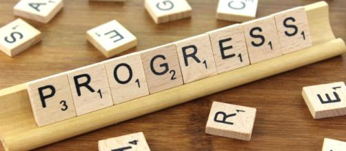 Progress is created one letter at a time. - [Blue Diamond Gallery creative commons image]