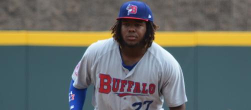 Vladimir Gurrero Jr with the Buffalo Bisons. - [Tricia Hall / Wikimedia Commons]
