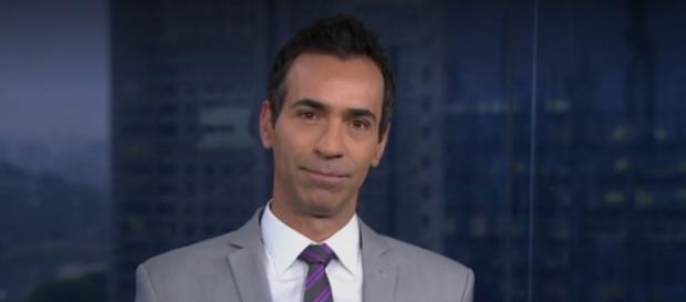 César Tralli é assaltado.(Reprodução/Rede Globo)