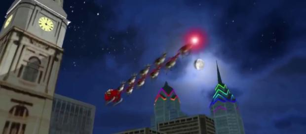 Santa is packing up the sleigh in a matter of hours. [Image via Horizon Trackers/YouTube]