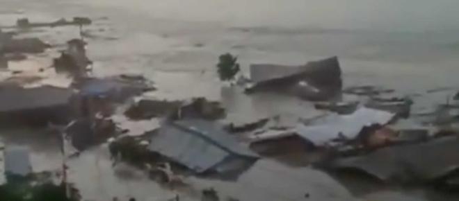Tsunami após erupção vulcânica deixa mortos e feridos na Indonésia