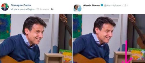 A sinistra la foto vera, a destra il fake
