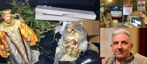 Presepe con Gesù nella spazzatura, la provocazione del parroco di Perignano