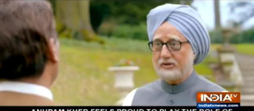 Anupam Kher as PM Man Mohan Singh- Pht credit - India today/youtube.com