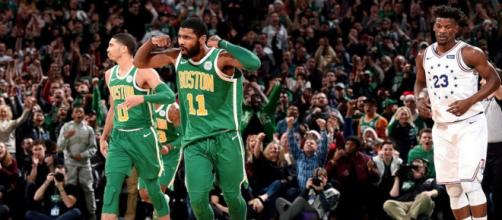 Kyrie Irving helped lead the Boston Celtics to an overtime win on Christmas Day. [Image via Bleacher Report/YouTube screencap]