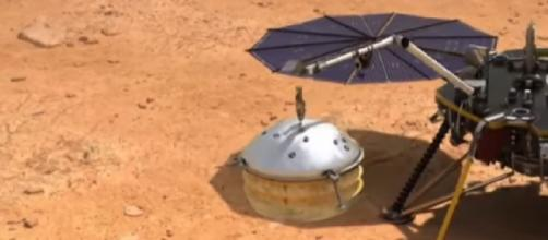 NASA's InSight craft lands on Mars after nail-biting descent. [Image source/TODAY YouTube video]