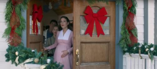 The timing of Elizabeth's baby surprises all in When Calls the Heart: The Greatest Christmas Blessing. [Image source: Hallmark Channel-YouTube]