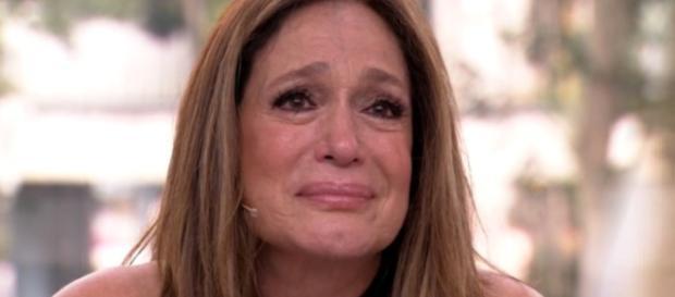 Susana Vieira não conseguiu segurar as lágrimas. (Reprodução/Globo)
