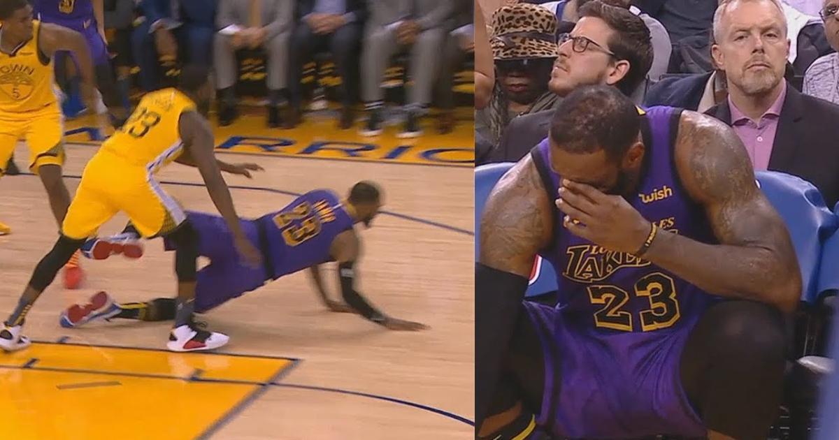 7ffbf0293274 LeBron James injury update  Lakers star leaves game in third quarter ...