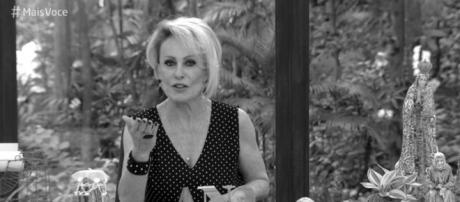 Ana Maria chora morte de colega (reprodução TV Globo)