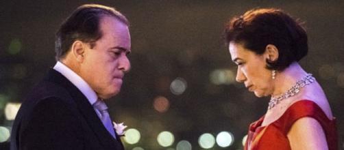 Olavo (Tony Ramos) e Valentina (Lilia Cabral). (Reprodução O Fuxico)
