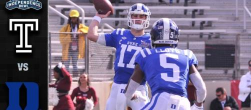 Duke crushed Temple in the Independence Bowl [Image via ACC Digital Network/YouTube screencap]