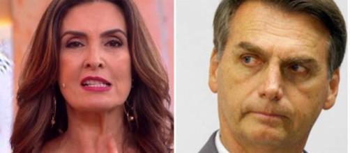 Possível indireta de Fátima Bernardes para Bolsonaro foi dada no último dia 27, ao vivo, no Encontro, da Globo. (Foto Reprodução)