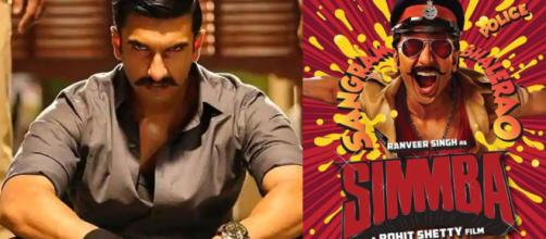 Ranveer Singh in Simmba. Photo-( Image credit- screen shot-Times news/Youtube.com)