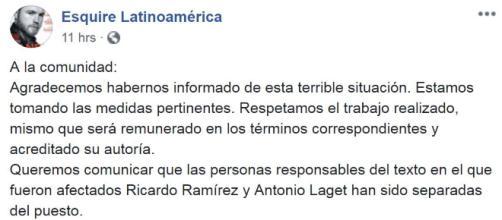 Revista Esquire Latinoamérica pide disculpas tras denuncias por ... - diariobasta.com