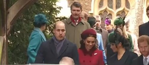 The Royal Family attends Christmas Day church service. [Image source/Global News YouTube video]