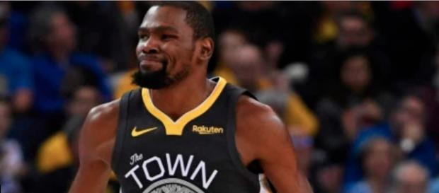 Kevin Durant and the Warriors are still the overall favorites to win the NBA title this season. - [NBA / YouTube screencap]