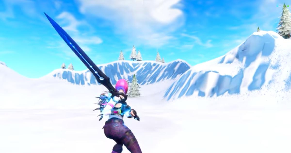 fortnite glitch allows players to use the infinity blade nautilus glider pickaxe leaked - fortnite infinity blade images