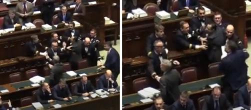 Il tentativo di avvicinarsi al presidente della Camera Raffaele Fico