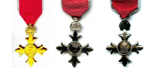 Seven moving stories about people honoured on the New Year's honours list. [Images OBE Kraszewski/Wikimedia - MBE ChrisO/Wikimedia]