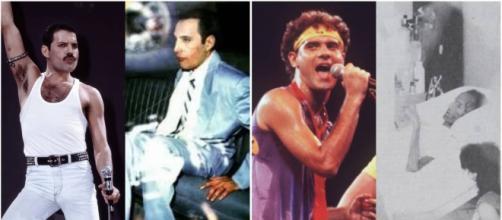 Freddie Mercury e Cazuza, dois astros que morreram em decorrência do vírus da Aids.