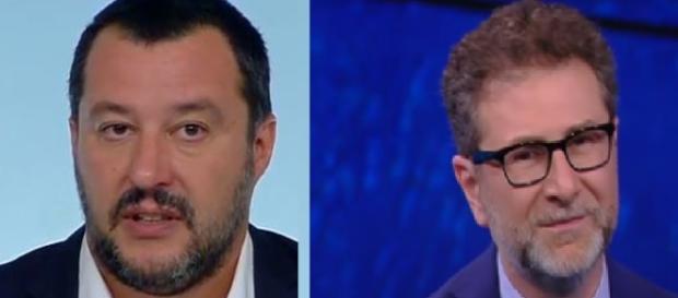 Matteo Salvini a torna ad attaccare Fabio Fazio