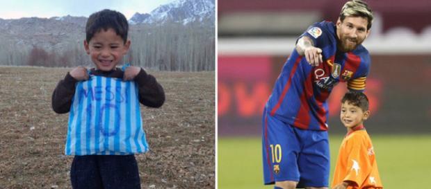 Murtaza, o fã de Leo Messi [Imagem via YouTube]