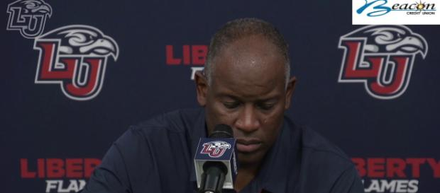 Turner Gill announces retirement. -[Image via Liberty University Flames/YouTube]