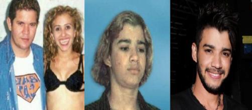 Chimbinha, Joelma e Gusttavo Lima eram bem diferentes no passado (Foto: PDN Entretenimento)
