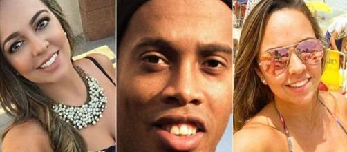 Ronaldinho e as duas namoradas (Reprodução Instagram Ronaldinho Gaúcho)