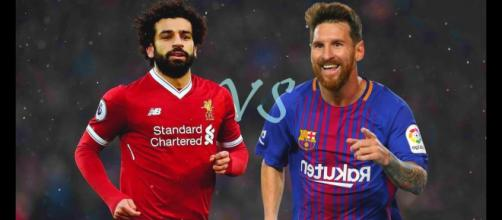 Salah e Messi no top-5 (Imagem via Youtube)
