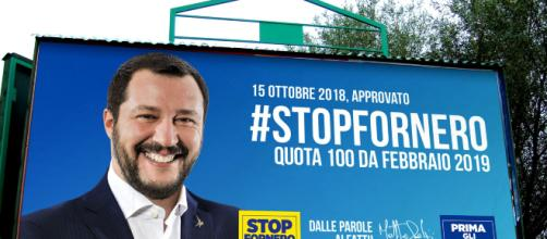 Salvini: reddito di cittadinanza e quota 100 nel 2019.