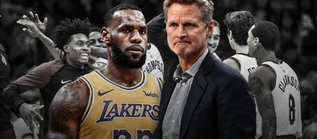 LeBron James and Steve Kerr [Image by Clutchpoints / Instagram]
