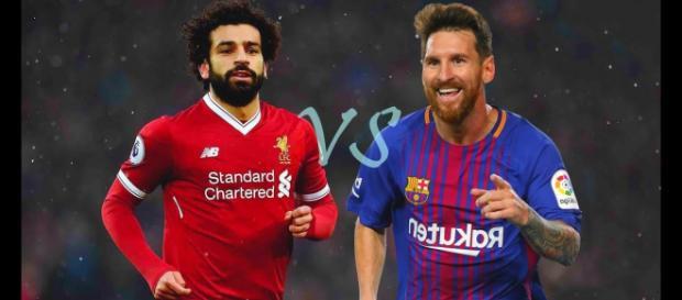 Salah e Messi no top-5 (Imagem via Youtube)
