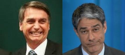 Bonner não foi escalado para cerimônia de posse (Reprodução PSL / TV Globo)