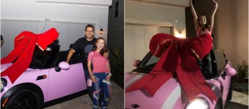 Larissa Manoela e seu carro (Reprodução Instagram Larissa Manoela)