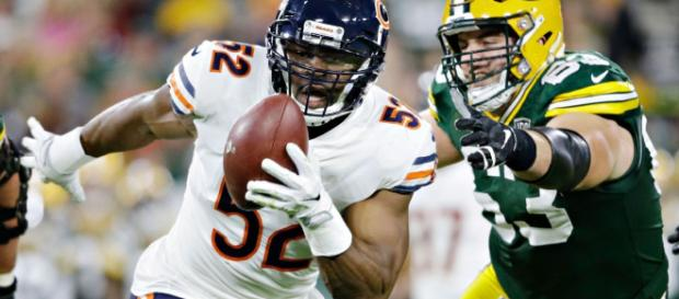 Khalil Mack and the Bears will host the Eagles in round one of the 2019 postseason. - [NFL.com / YouTube screencap]