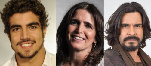 Caio Castro, Malu Mader e André Gonçalvez foram alguns dos muitos atores que não tiveram contrato renovado pela Rede Globo. (Reprodução/Internet)