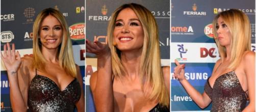 Diletta Leotta regina del Gran Galà Del Calcio: il look esplosivo risalta il decolleté