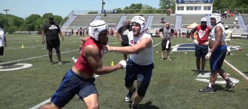 Eli Sutton would be a great get for Nebraska football. [Image via Rivals Camp Series/YouTube]