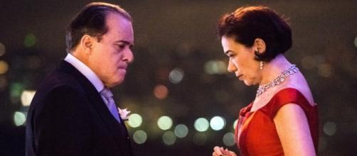 Olavo e Valentina, rivais na novela da Globo