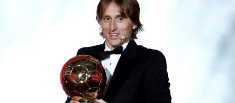 Luka Modrić, récompensé par le ballon d'or.