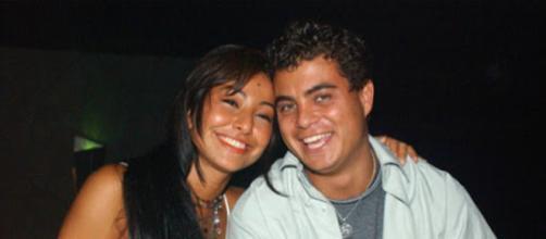 Sabrina Sato e Dhomini no BBB 2003. (Foto: Reprodução)