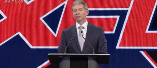 Vince McMahon at the XFL press conference on Wednesday (Dec. 5). [Image via XFL/YouTube]