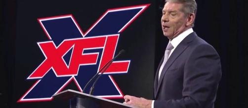 Vince McMahon at December 5 press conference. - [XFL / YouTube screencap]
