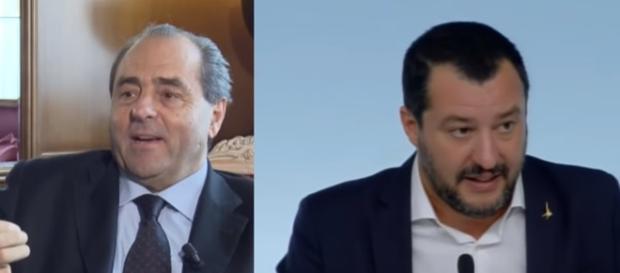 Di Pietro attacca Salvini: 'Ha violato la legge, va sfiduciato, indagato e mandato a casa'