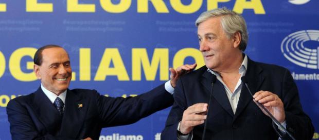 Silvio Berlusconi e Antonio Tajani.