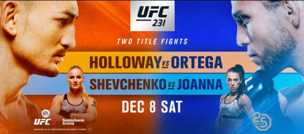 UFC 231: Holloway vs Ortega a Toronto